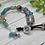 Thumbnail: Suede & Button close Boho Bracelet- Purple and Blue
