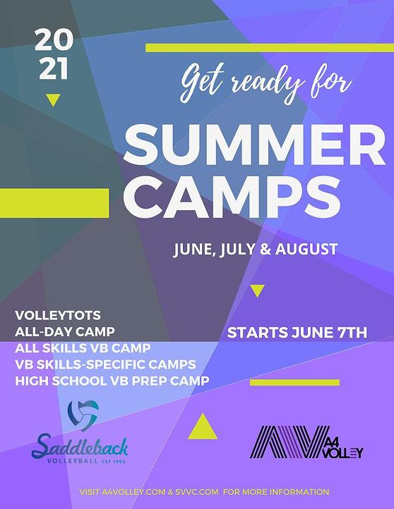 2021 Summer Camp Poster