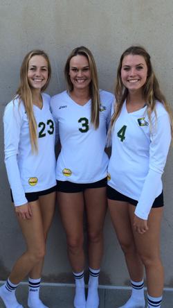 Kyleigh Schumacher, Rachel Flynn, Hailey Gaines, Concordia University-Irvine