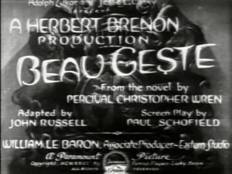 Cinevent May: Beau Geste (1926)