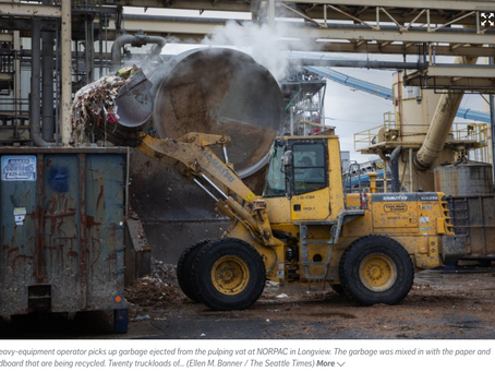 """Let's Educate Ourselves. """"Recycling Dirty Truths: Washington State Works Towards Cleaner System"""""""