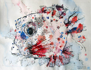 LITTLE BLUE RED FISH