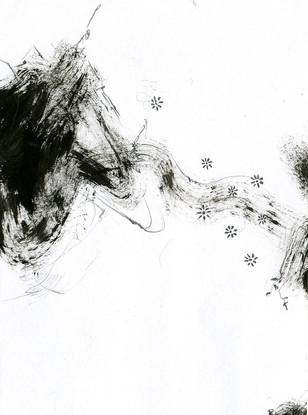 ABSTRACT ART B/W 1