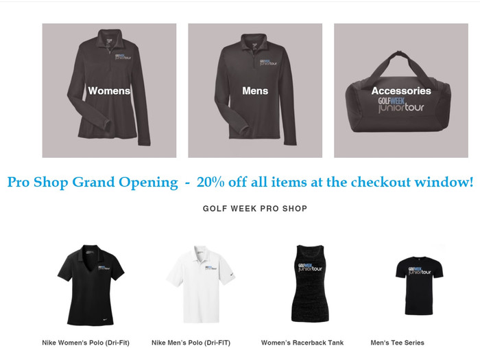 *New Pro Shop* - 20% off all items for Grand Opening