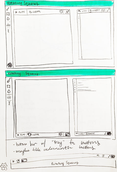 App Layout Sketches 1