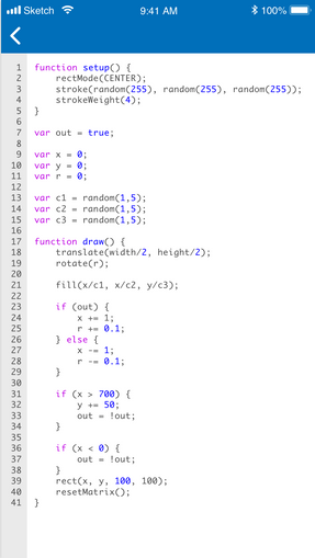 Edit Sketch Code