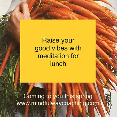 Meditate for Lunch   Every Tuesday at 11:30 on FB live