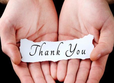 Thank You ~ Expressing Gratitude