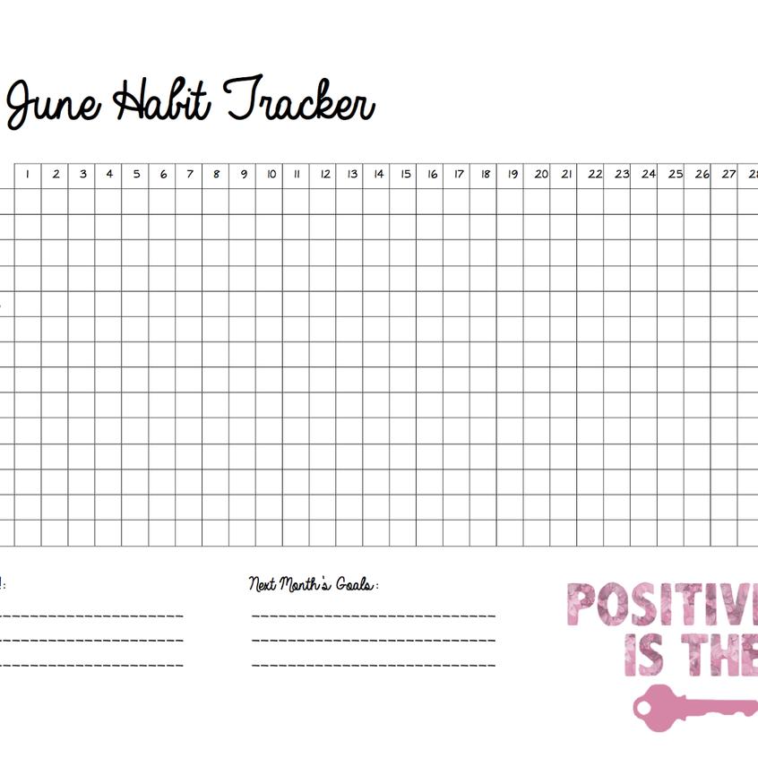 June Habit Tracker