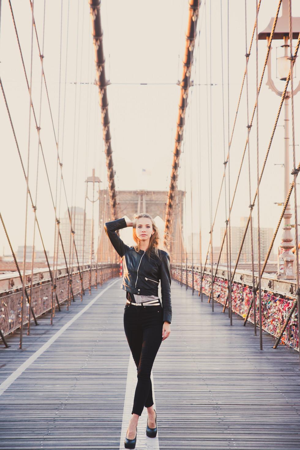 lifestyle portrait woman over brooklyn b