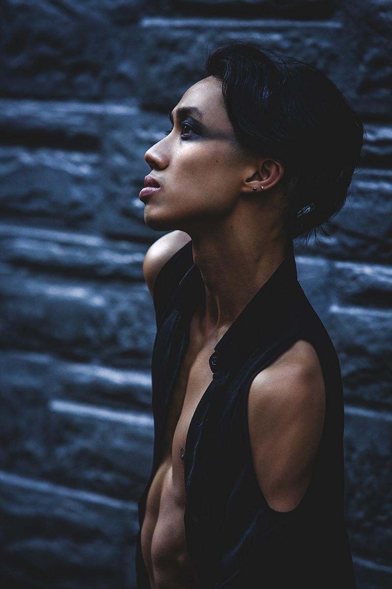 dramatic portrait of a dancer at dawn by