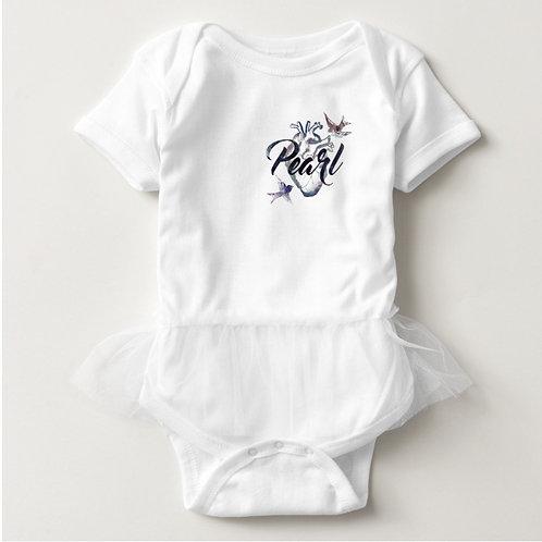 Baby Tutu Bodysuit (White)