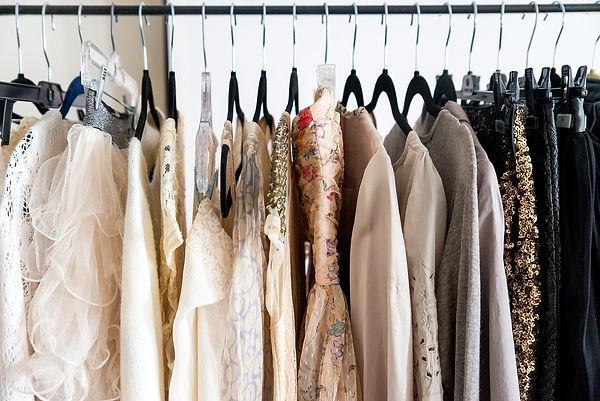 women studio wardrobe for maternity and glamour photoshoots