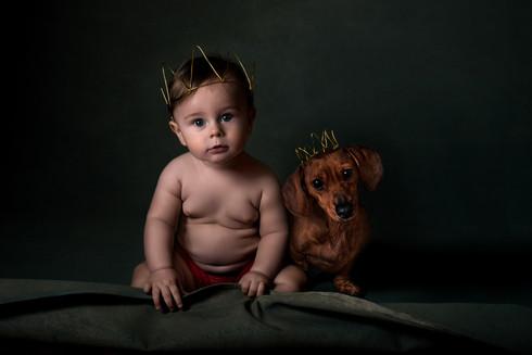 fine art infant portrait crowned baby si