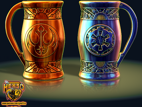 Alliance and Imperial twin can holder by hex3d