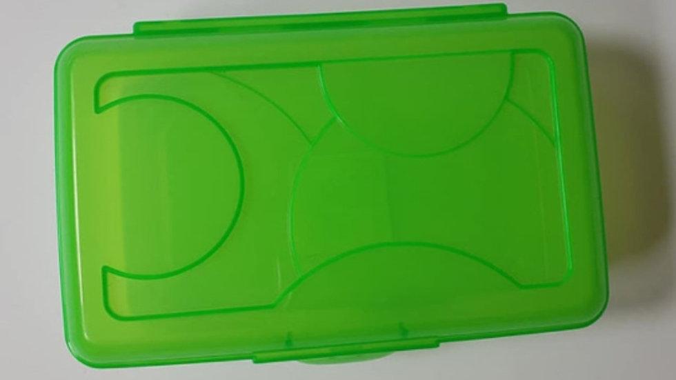Green Clip Crayon Box