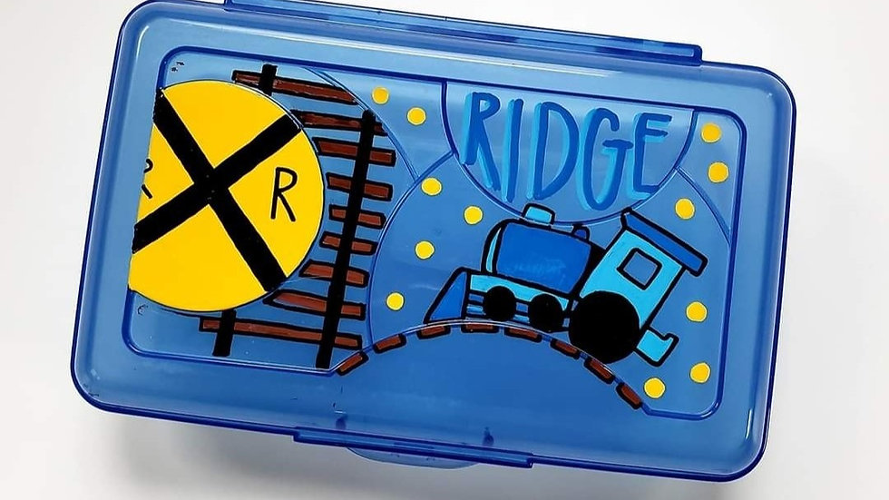 Blue Clip Crayon Box