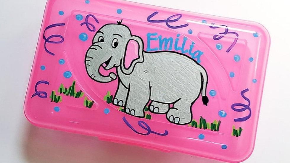 Pink Clip Crayon Box