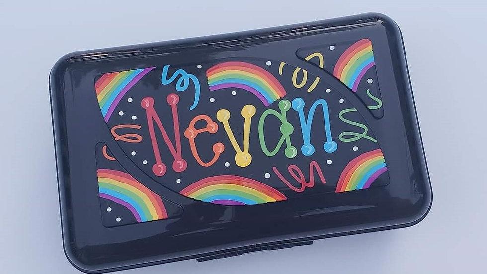 Black Clip Crayon Box
