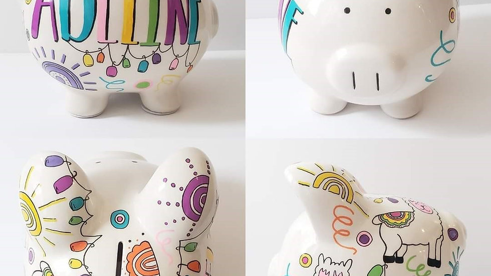 Boho/Llama Piggy Bank