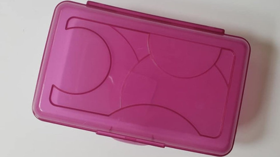 Purple Clip Crayon Box