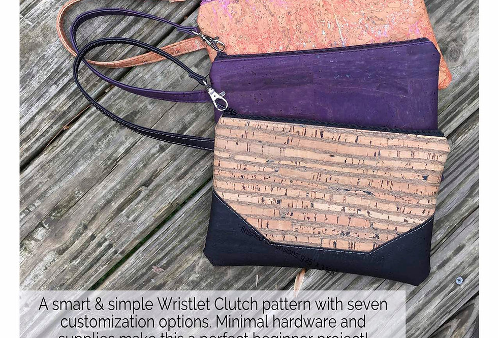 PAPER PATTERN - Wristlet Clutch