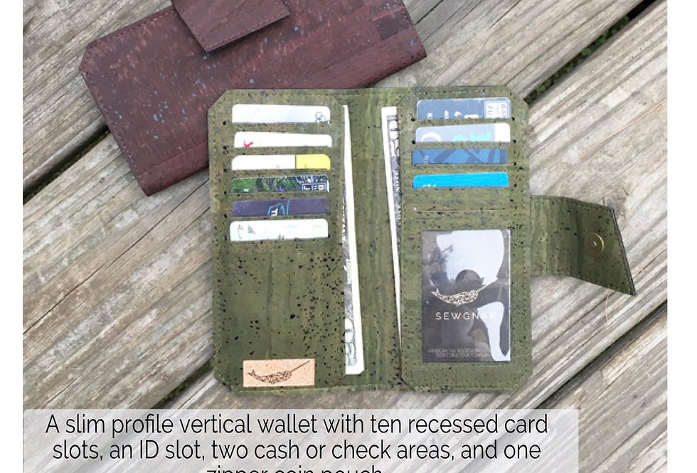 PAPER PATTERN - Tall Wallet