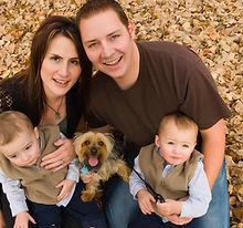 Familia en otoño
