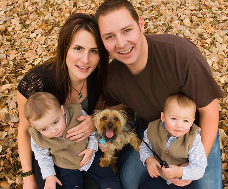 Famille à l'automne