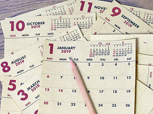 close up of calendar in year 2019, next