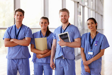Group portrait of healthcare workers in