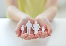people, charity and care concept - close