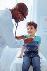Professional pediatrician. Joyful positi