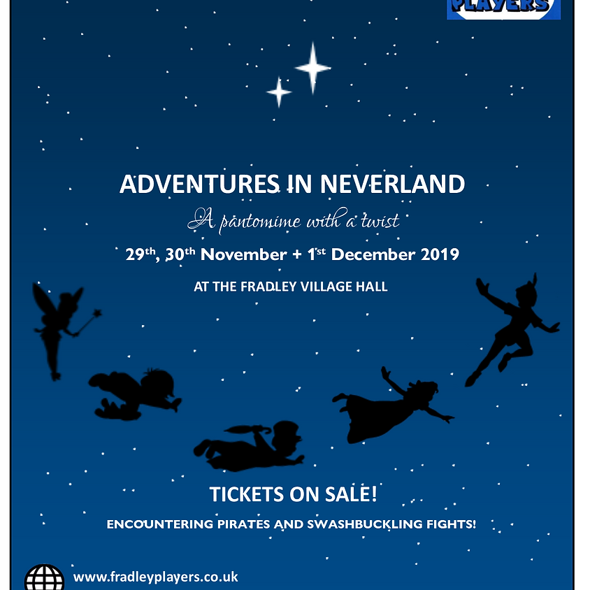 Adventures in Neverland- Friday 29th November Evening Performance