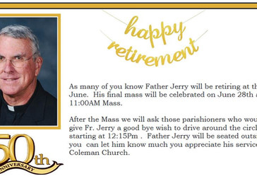Father Jerry's Retirement Mass June 28th!