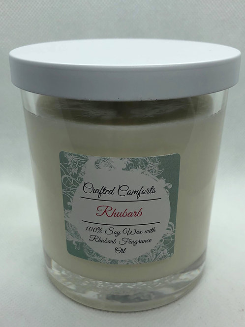 Rhubarb Scented Soy Candle