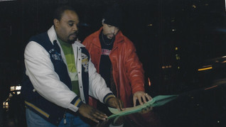 Paul eliacin and Ice T. going over scrip