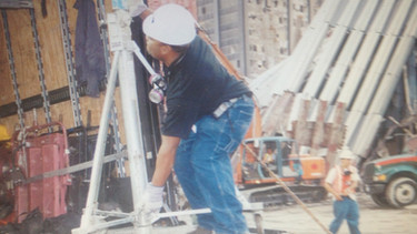 Paul Eliacin Helping Out at Ground Zero