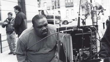 Paul Eliacin on the set of his movie own