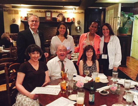 Standing l to r: Greg Sorozan, Ellen Cobb, Ivonne Moreno-Velazquez, Maureen Duffy; Seated l to r: Jessi Eden Brown, DY, Kathy Rospenda
