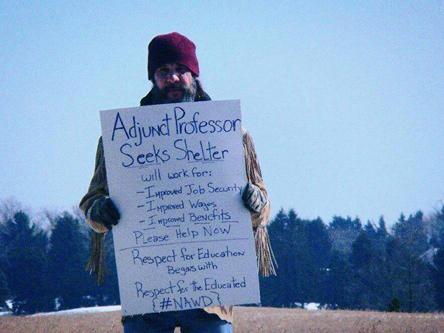 National Adjunct Walkout Day protester