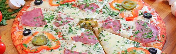 Пицца на тонком тесте средняя L-25см.