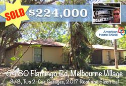 Sold Postcard 6480 Flamingo