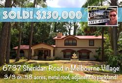 6737 Sheridan Sold in Melbourne Vill