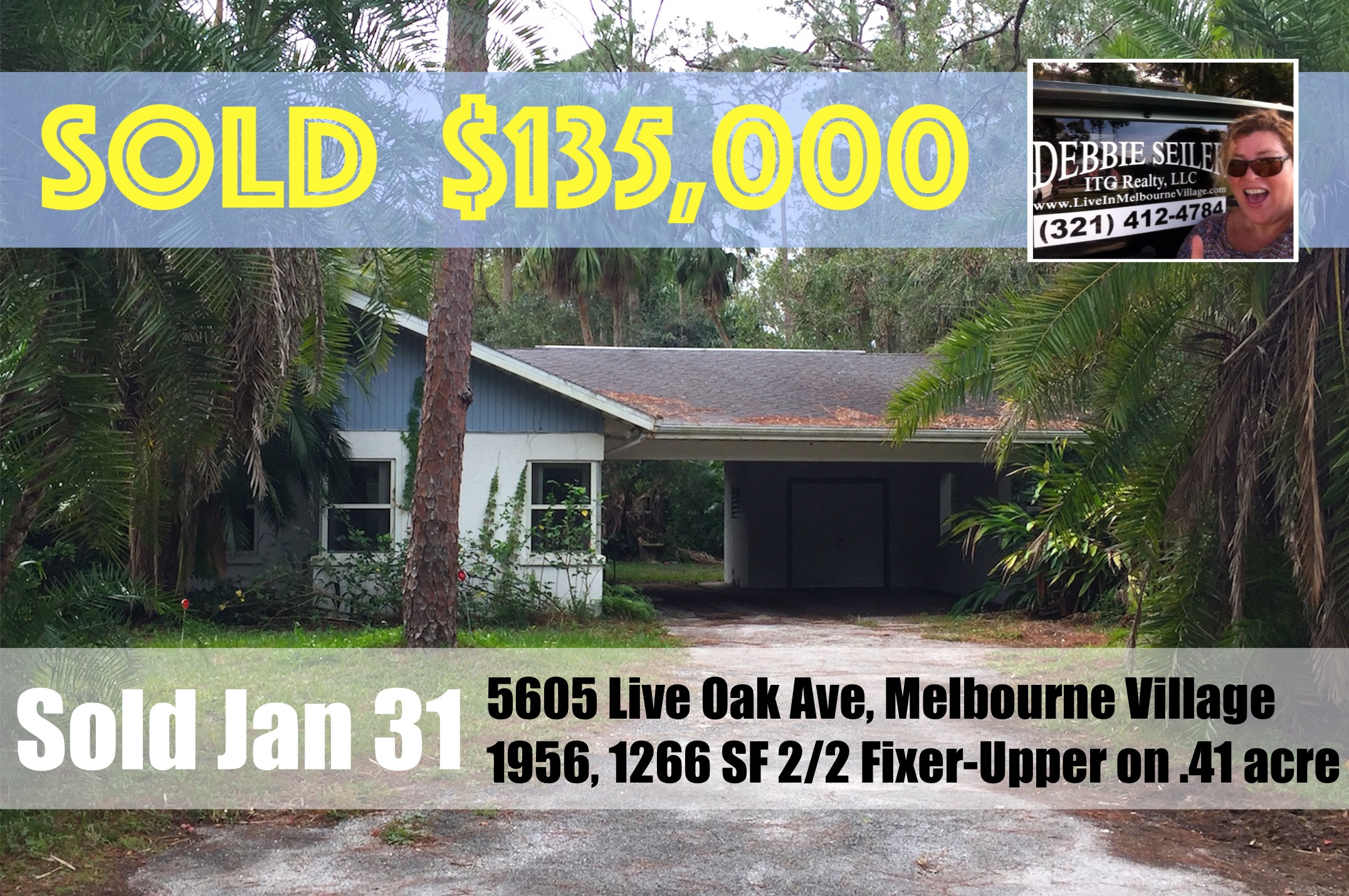 Sold Postcard 5605 Live Oak