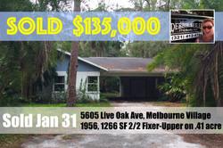 Sold Postcard 5605 Live Oak