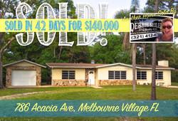 786 Acacia Sold in Melbourne Village