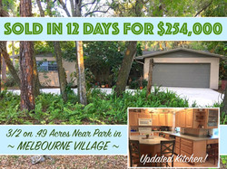 676 Acacia Sold in Melbourne Village