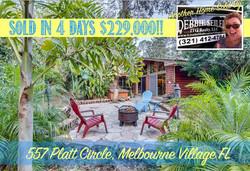 557 Platt Sold in Melbourne Village