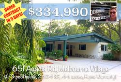 651 Acacia Sold in Melbourne Village